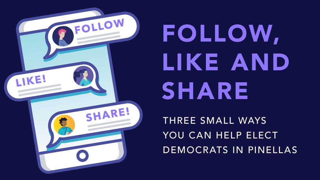 Follow, Like & Share